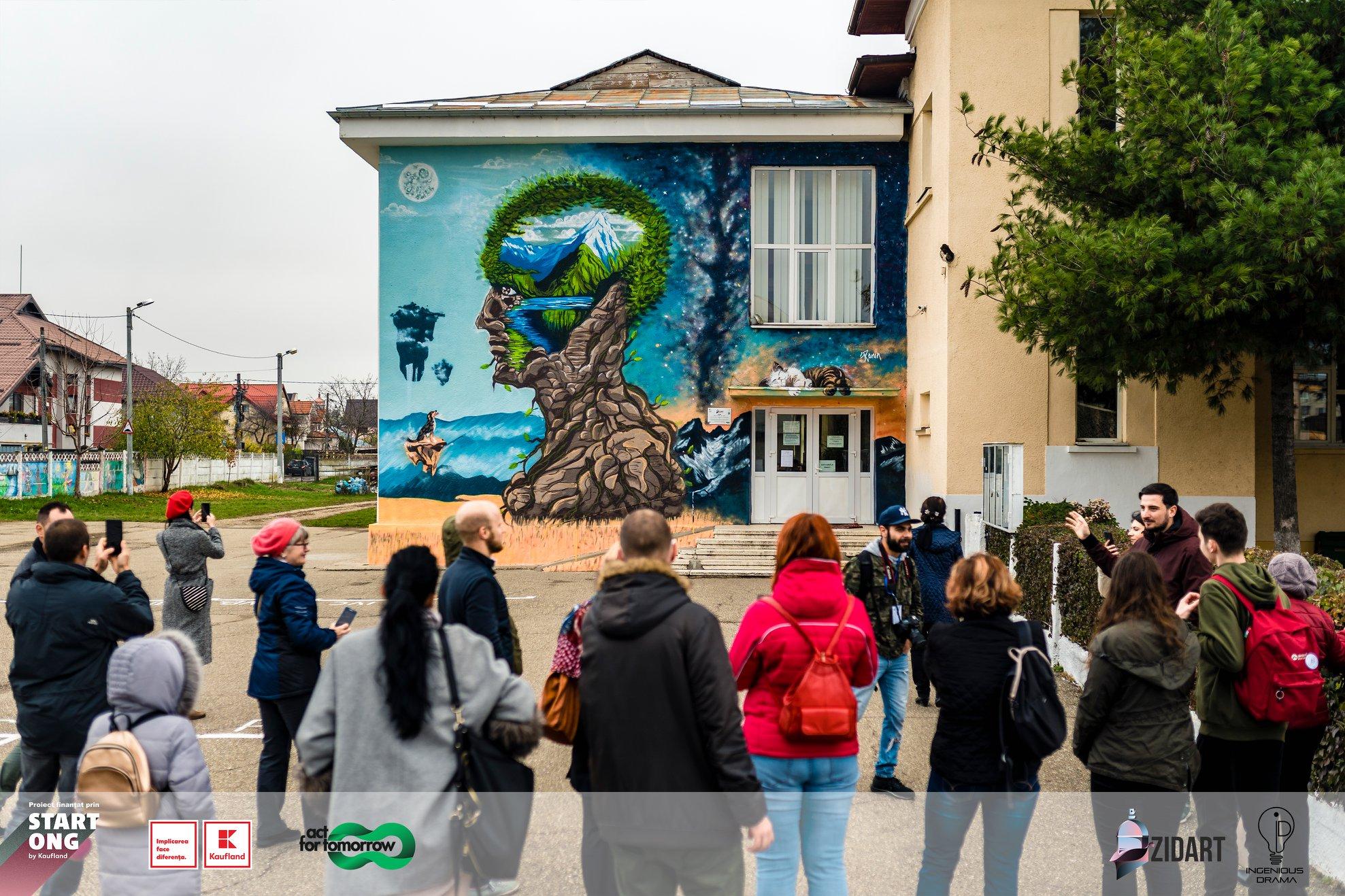 Comunitatea Zidart si picturi purificatoare de aer